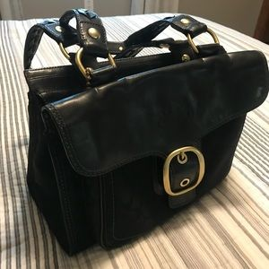 Coach Bleeker Bucket Buckle Flap Handbag